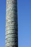Vendome Column. Column Vendome depicting the Battle of Austerlitz at the Place Vendome in Paris, France Stock Photos