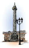 Vendome column in Paris Royalty Free Stock Photography