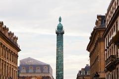 Vendome Column in Paris. Vendome Column on Vendome square in Paris Royalty Free Stock Photography