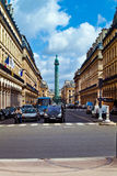 Vendome column with statue of Napoleon Bonaparte, on the Place V Royalty Free Stock Image