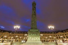 Vendome kolonn i Paris fotografering för bildbyråer