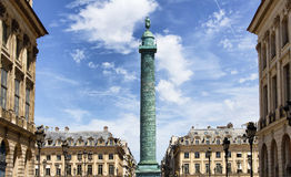 Vendome in Paris. View of Place Vendome in Paris Stock Image