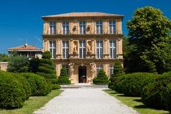 Vendome. Pavillon de Vendome in nice garden during sunny in Aix-en Provence, France Royalty Free Stock Photography