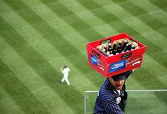 Vendor at a ball game Stock Photography
