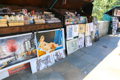 Vendor booths at Seine Stock Photography