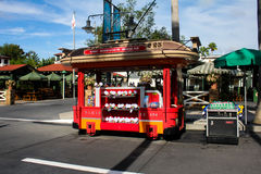Vendor cart at Hollywood Studios in Orlando, FL. Royalty Free Stock Images