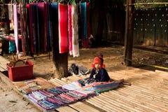 Vendor children. Sale the native cloth stock image