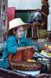 Vendor at Damnoen Saduak Floating Market, Thailand. Royalty Free Stock Photography
