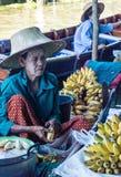 Vendor at Damnoen Saduak Floating Market, Thailand. Stock Images