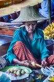 Vendor at Damnoen Saduak Floating Market, Thailand. Stock Photography