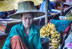 Vendor at Damnoen Saduak Floating Market, Thailand. Royalty Free Stock Image