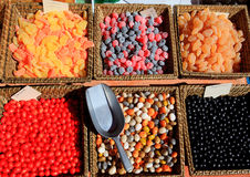 Vendor display at the Flower Market in Nice Stock Image