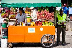 Vendor of fruit in guatape colombia Stock Images