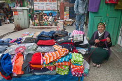 Vendor at Gangtok Stock Images