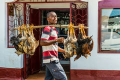 Vendor, Hell Ville, Nosy Be, Madagascar Stock Images
