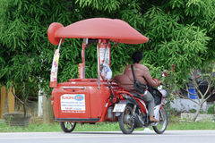 Vendor of kind of Icecream on a motorcycle Stock Images