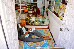 A vendor in Pushkar, India. A vendor near Pushkar Lake in Pushkar, India royalty free stock photography