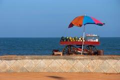 Vendor's cart with fruits Stock Photos