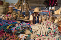 Vendor`s stand in the farmer`s market Colombia Stock Images