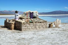 Vendor in Salinas Grandes, Argentina Stock Images