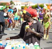 Vendor selling beverages in a carnival, Jamaica Stock Images