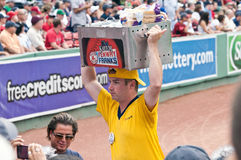 Vendor selling famous Fenway Franks Royalty Free Stock Photo