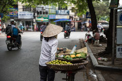 Vendor Selling Fruits Royalty Free Stock Images