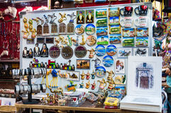 Vendor selling local souvenir  Muscat, Oman Royalty Free Stock Images