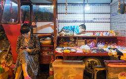 Vendor selling from minivan in Guilin, China Stock Photography