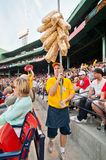 Vendor selling popcorn at historic Fenway Park Royalty Free Stock Images