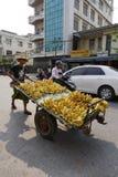 Vendor on the street in Yangon, Myanmar Royalty Free Stock Image