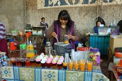 Vendor in Uquia, Argentina Royalty Free Stock Photos