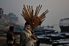 Vendor at Varanasi Royalty Free Stock Photo