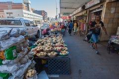 Vendor Vegatables Streetside Stock Photography
