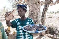 Vendors along the way, Mali, Africa. Royalty Free Stock Images
