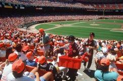 Vendors at baseball game, Candlestock Park, SF, CA Stock Photos