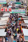 Vendors in a busy street at MongKok, Hong Kong Royalty Free Stock Photography