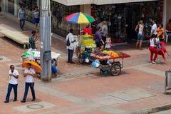 Vendors in Cartagena. royalty free stock image