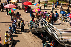 Vendors and Crowds Royalty Free Stock Photos