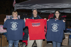Vendors in DC selling Presidential Inauguration shirts Stock Image
