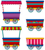 Vendors. Different designs of carts and vendors Royalty Free Stock Photos