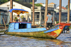 Vendors at the Floating market, Mekong Delta, Can Tho, Vietnam Stock Photos