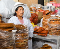 Vendors in the market, Cusco Peru Royalty Free Stock Photo