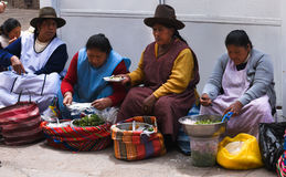 Vendors in the market, Cusco Peru Royalty Free Stock Image