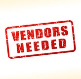 Vendors needed text buffered. Illustration of vendors needed text buffered on white background Stock Photo
