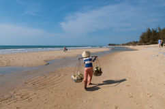 Vendors On The Beach Royalty Free Stock Photos