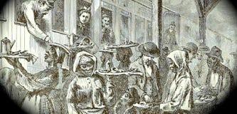 Vendors outside train