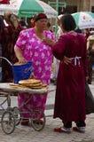 Vendors at the Samarkand market. Uzbekistan Stock Image