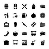 Vendor or Seller Solid Icons Set. This is vendors or seller solid icons pack accommodating food and drink elements. Hence if your projects have subjects like stock illustration