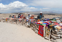 Vendors Selling Local Crafts, Peru Royalty Free Stock Image